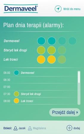 Dermaveel - plan dnia